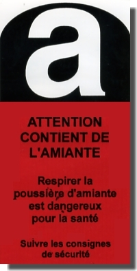 "Lot de 10 pictogrammes ""Attention amiante"""