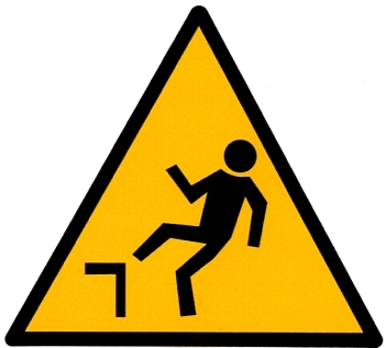 "Lot de 10 pictogrammes ""Danger de chute"""