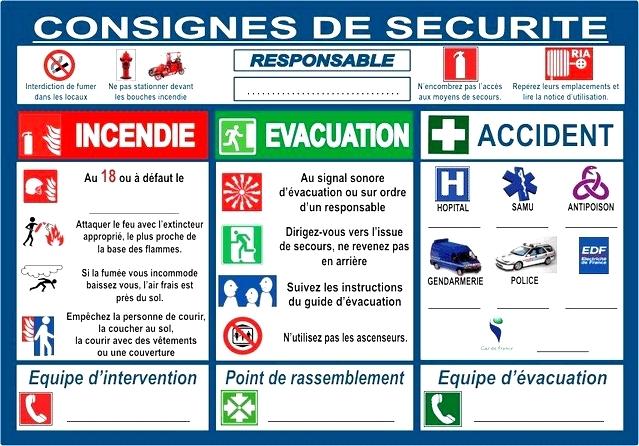 9769ce3a5b7 Panneau Consignes de sécurité